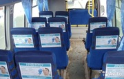 Размещение рекламы на спинках автобусных сидений
